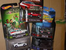 Hot Wheels 2015 RETRO ENTERTAINMENT K SET of 5 CARS STARSKY & HUTCH GHOSTBUSTERS