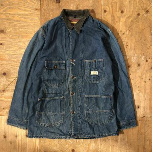 POWR HOUSE Denim Coverall Jacket 60s Vintage Men's