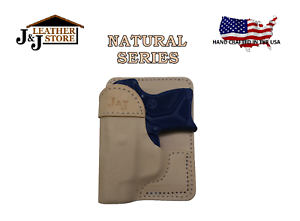 J/&J SMITH /& WESSON S/&W M/&P SHIELD 9//40 W// LASERMAX TUCKABLE IWB LEATHER HOLSTER