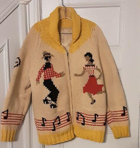 Rare Vtg 1960s Cowichan Knit Sweater western boy g