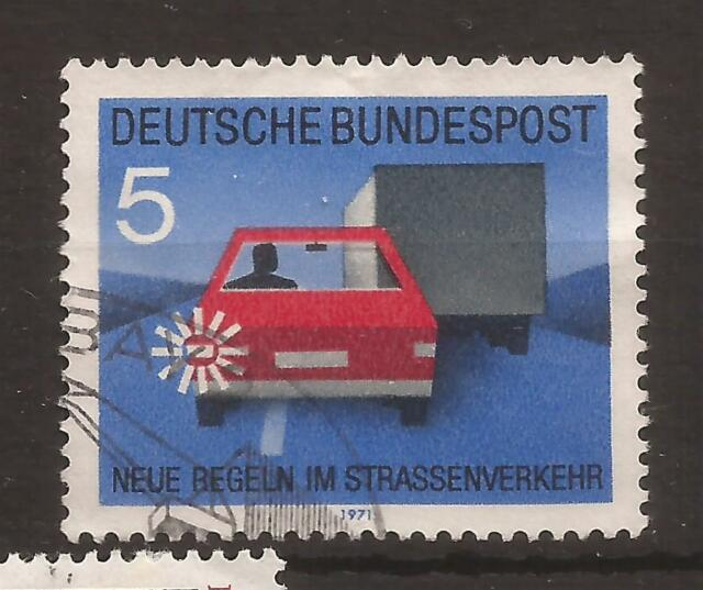 1971 New Traffic Rules 5 Pf used, Michel 670.