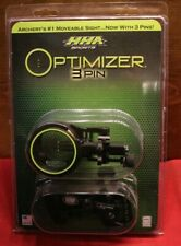 "HHA Optimizer Lite Cadet Single Pin .019/"" 1 5//8 Dia LH or RH Archery Sight"