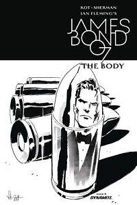 JAMES-BOND-THE-BODY-6-1-10-VARIANT-Luca-Casalanguida-Black-amp-White-Cover-B