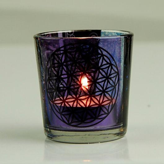 1Teelichthalter  hängend fürs Glas