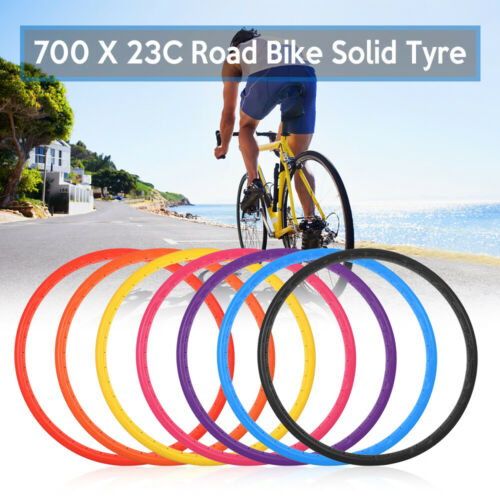Bike Solid Tire 700x23C Road Bike Bicycle Cycling Riding Tubeless Tyre S9Z4