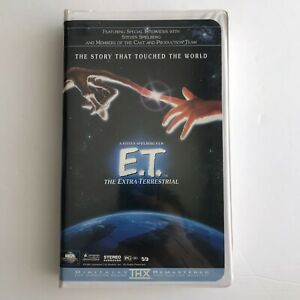 E.T. The Extra-Terrestrial (VHS, 1996, Clamshell) Vintage Sci-fi Movie