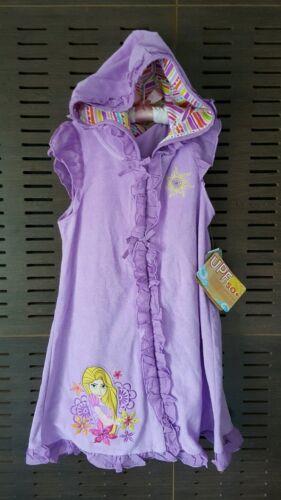 Disney Rapunzel Tangled Hooded Towel Beach Cover Up Dress Swim Terry Purple NEW