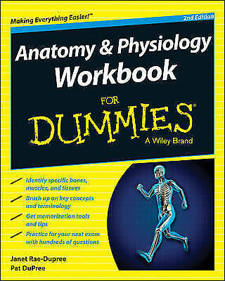 1 of 1 - Anatomy and Physiology Workbook for Dummies by Janet Rae-dupree  Paperback