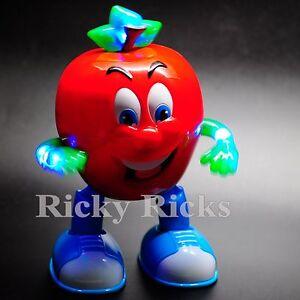 Light Up Dancing Toy Singing Apple Crazy LED Toys Prank Gags Funny Gift Joke