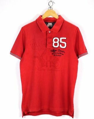 Clothing, Shoes & Accessories Men's Clothing Tommy Hilfiger Mens Polo Shirt Size L Large Red Short Sleeve Summer Top #ef370 Jade White