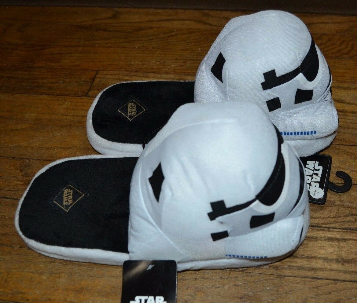 Stormtrooper Plush MEN'S SLIPPERS SIZE M, L & XL Officially Licensed STAR WARS