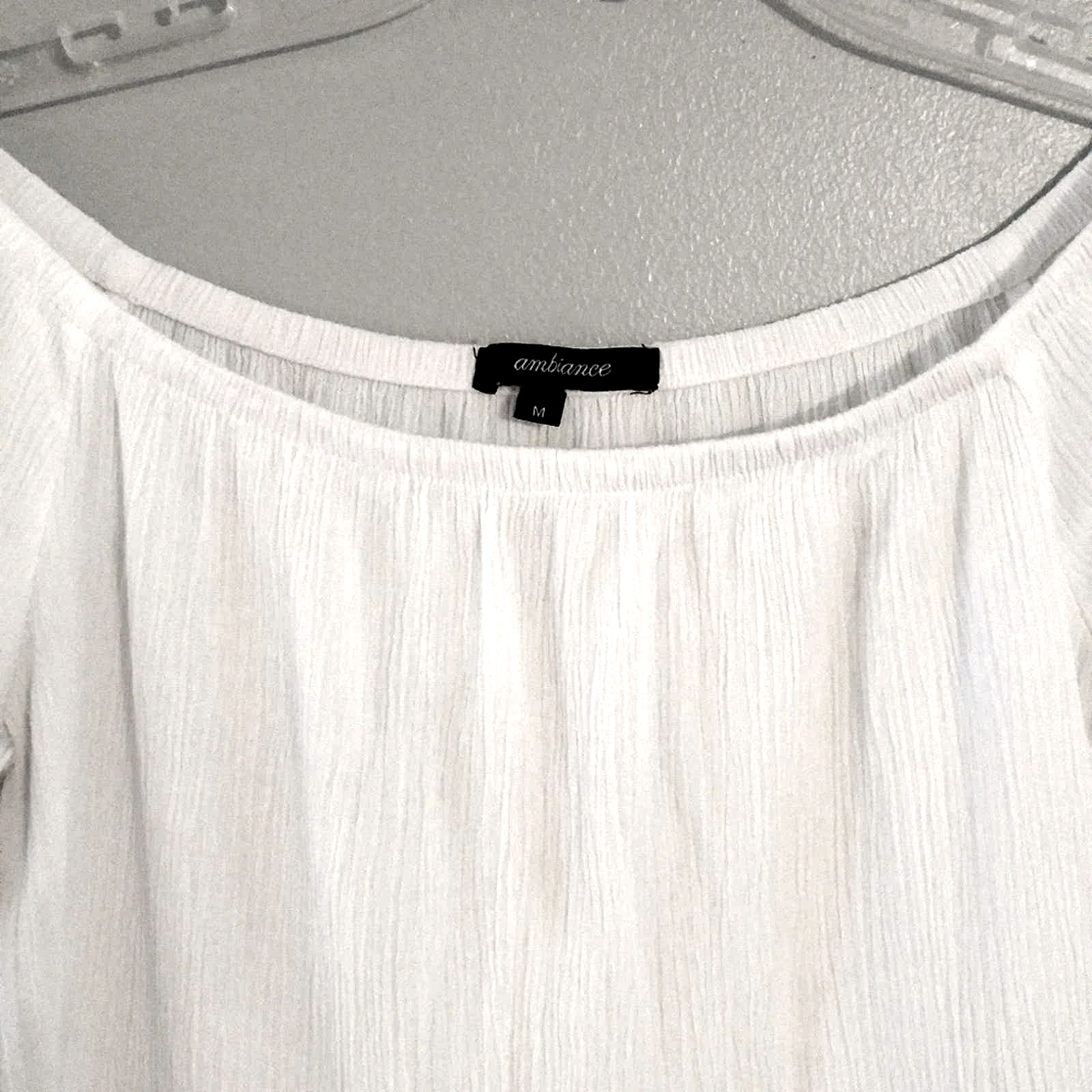 Ambiance White Lacey Fairycore crop top - image 3