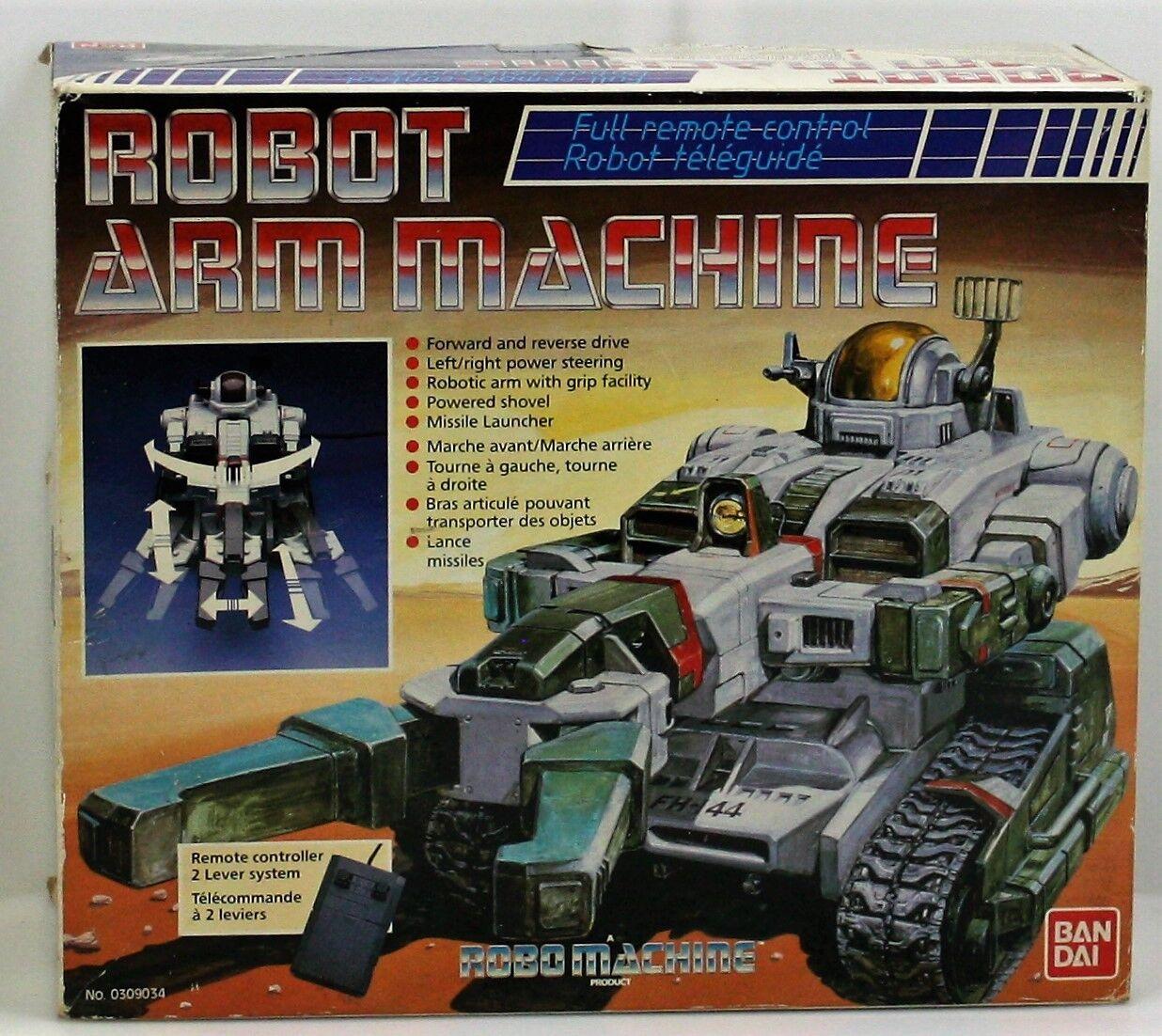 Máquina de máquina de brazo robótico de robo VWS-01 - Bandai 1984