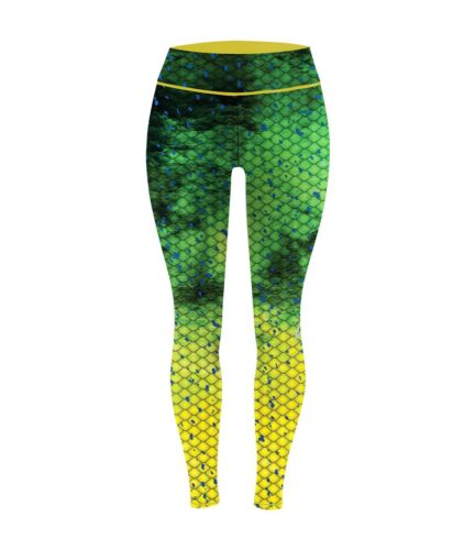 Pelagic Women/'s Maui Oceanflex Leggings Dorado Green NWT 2041181004 All Sizes
