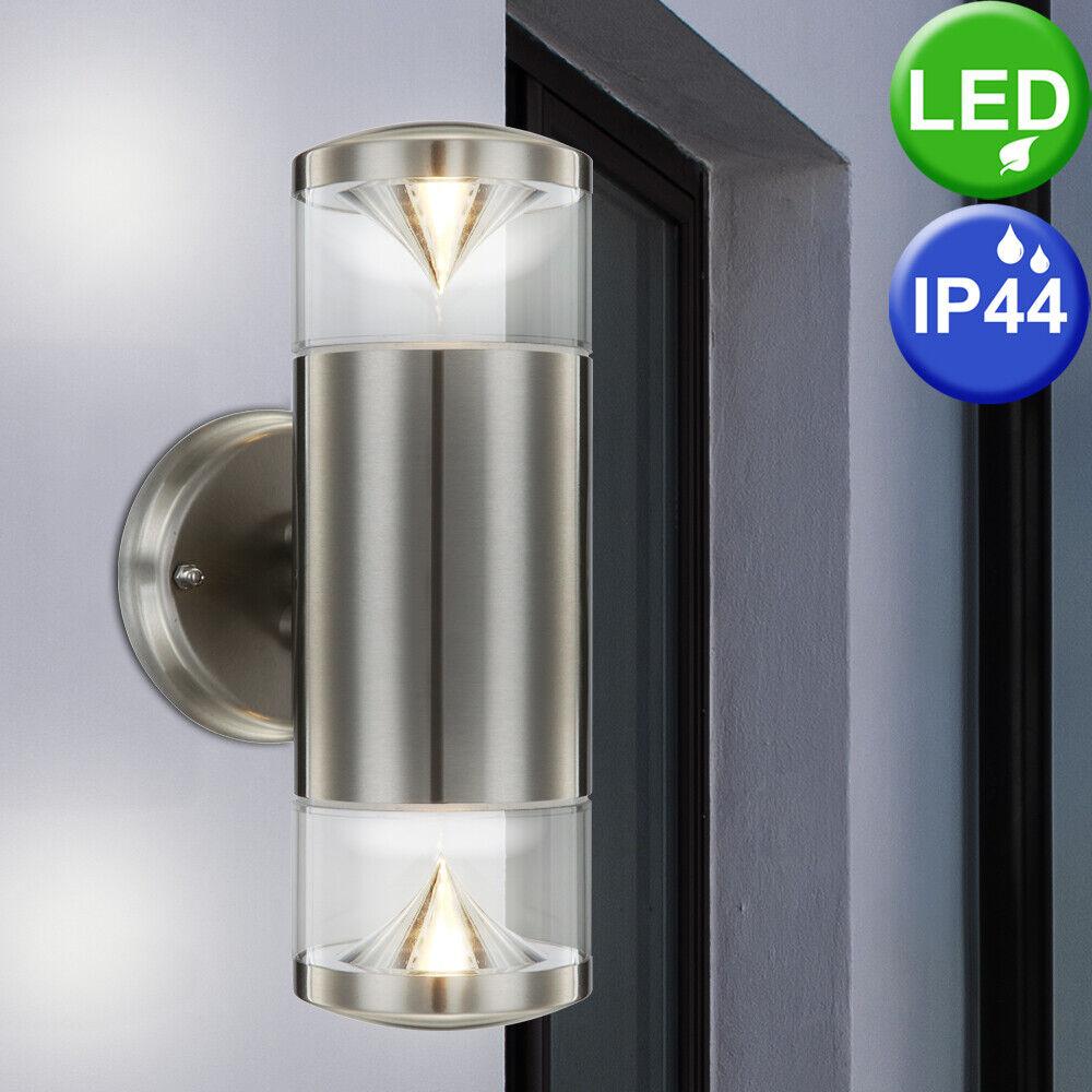 LED de parojo lámpara spot acero inoxidable luz porche iluminación jardín emisor Design