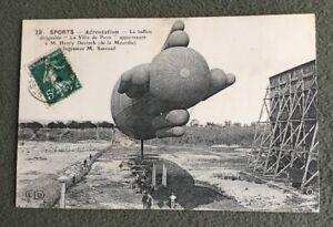 CPA-Aerostation-Ballon-Dirigeable-LA-VILLE-DE-PARIS-Henry-Deutsch-Surcouf