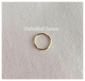 14 Karat Solid Gold Nose Ring 24 Ga Rook Hex Tragu Daith Body