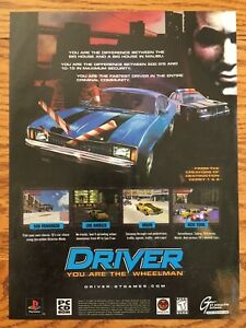 Driver-Playstation-PS1-PSX-Playstation-1-1999-Video-Game-Poster-Ad-Art-Print