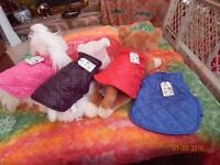 Puffy Jackets For Pets Dog Apparel Adjustable, Reversible Assorted Colors,sizes.