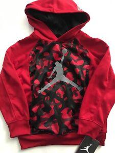 0b196a5632a Nike Air Jordan Boys Therma-fit Hoodie Sweatshirt Jacket Size 5 Red ...