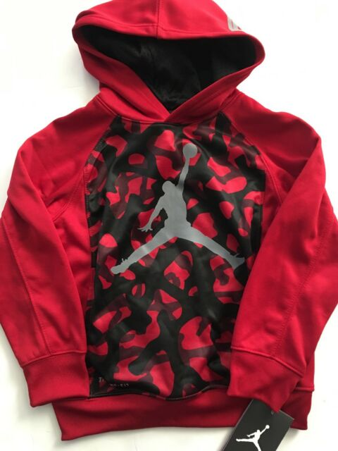 97d883d228da Nike Air Jordan Boys Therma-fit Hoodie Sweatshirt Jacket Size 5 Red Black