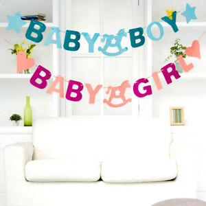 Bebe-douche-feutre-banniere-partie-bapteme-decor-Bunting-faveur-piece-decoration