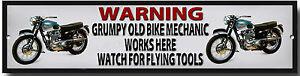 aviso-Grumpy-Old-MOTO-mechanic-WORKS-There-VER-para-FLYING-HERRAMIENTAS-METAL