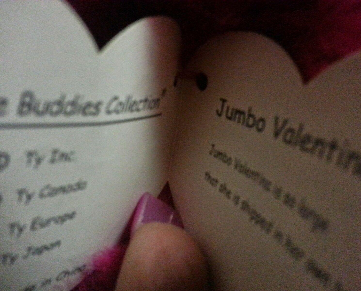 RETIRED 2001 ORIGINAL TY  JUMBO VALENTINA  41 INCH BEANIE BUDDY