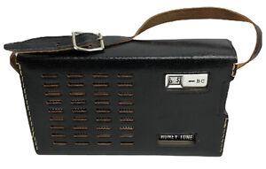 Vintage-Honey-Tone-Black-Handheld-Radio