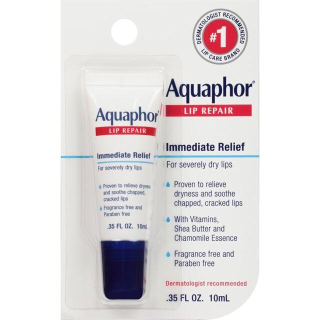 Lip Repair, Immediate Relief, Fragrance Free, .35 fl oz (10 ml) - Aquaphor