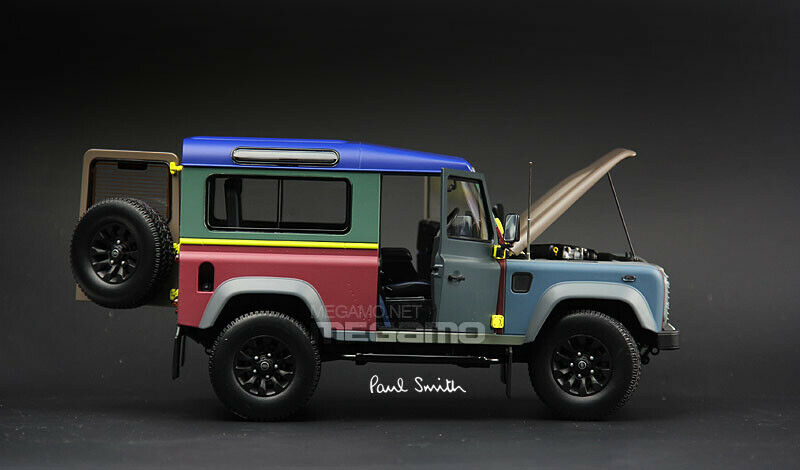 1 18 Almost Real Land Rover Defender 90 Paul Smith 2015 Diecast Full Open