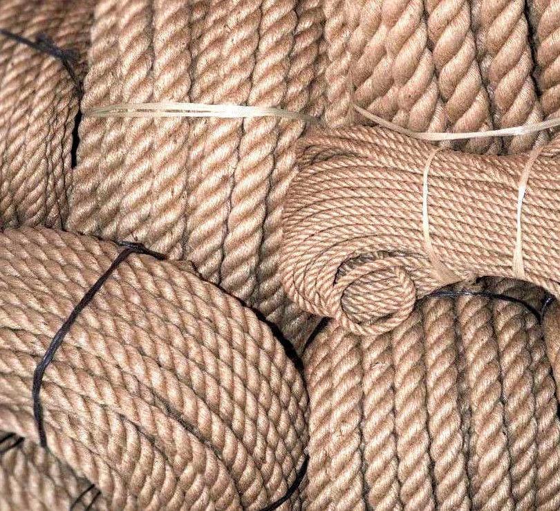 35mm  3 10-  m Juteseil Hanfseil Juteleine Natur gedreht ungefärbt Seil