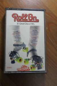 ROLL-ON-16-Great-Disco-Hits-Rare-1981-Blue-Paper-Label-Cassette-Tape