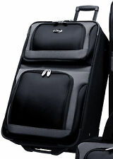 """US Traveler New Yorker Black 25"""" Lightweight Expand Rolling Suitcase Luggage Bag"""
