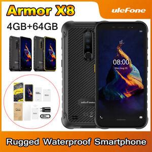 5.7 inch Ulefone Armor X8 IP68 Rugged Phone 4GB+64GB MT6762V 5080mAh Android 10