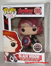 FUNKO POP Marvel AGE OF ULTRON BLACK WIDOW #103 w/ SHIELD GAME STOP EXC IN STOCK