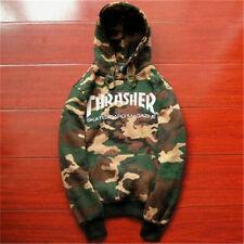 2017 Men's hoodie hedging skateboard camouflage Thrasher Hip-Hop Sweatshirts!