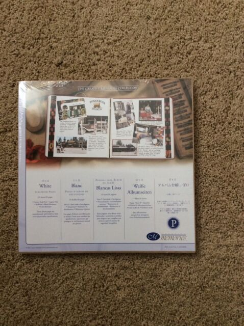 NIP Creative Memories 12 x 12 White Scrapbook Pages- Pack Of 15 Sheets
