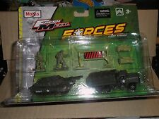 Maisto Fresh Metal First Strike Military ARMY FORCES TANK JEEP SOLDIERS