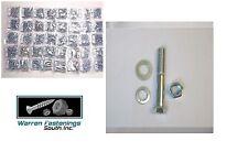 GRADE 5 BOLT NUT & SAE WASHER ASSORTMENT KIT 1496 PC FINE THREAD ZINC PLATED