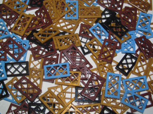 Lego ® Lot x2 Fenêtres Bateau Pirate Window ½ For Frame 1x4x3 Choose Color 60607