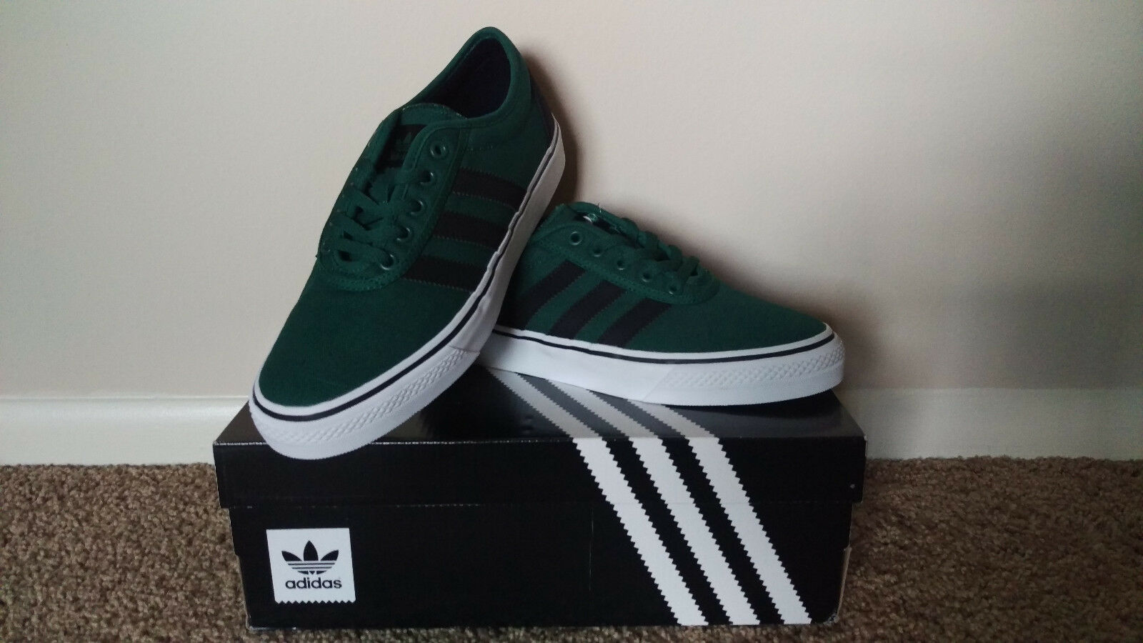 Adidas Adi-Ease Men's Shoes. Size 7. Dark green & black. New in box, never worn.
