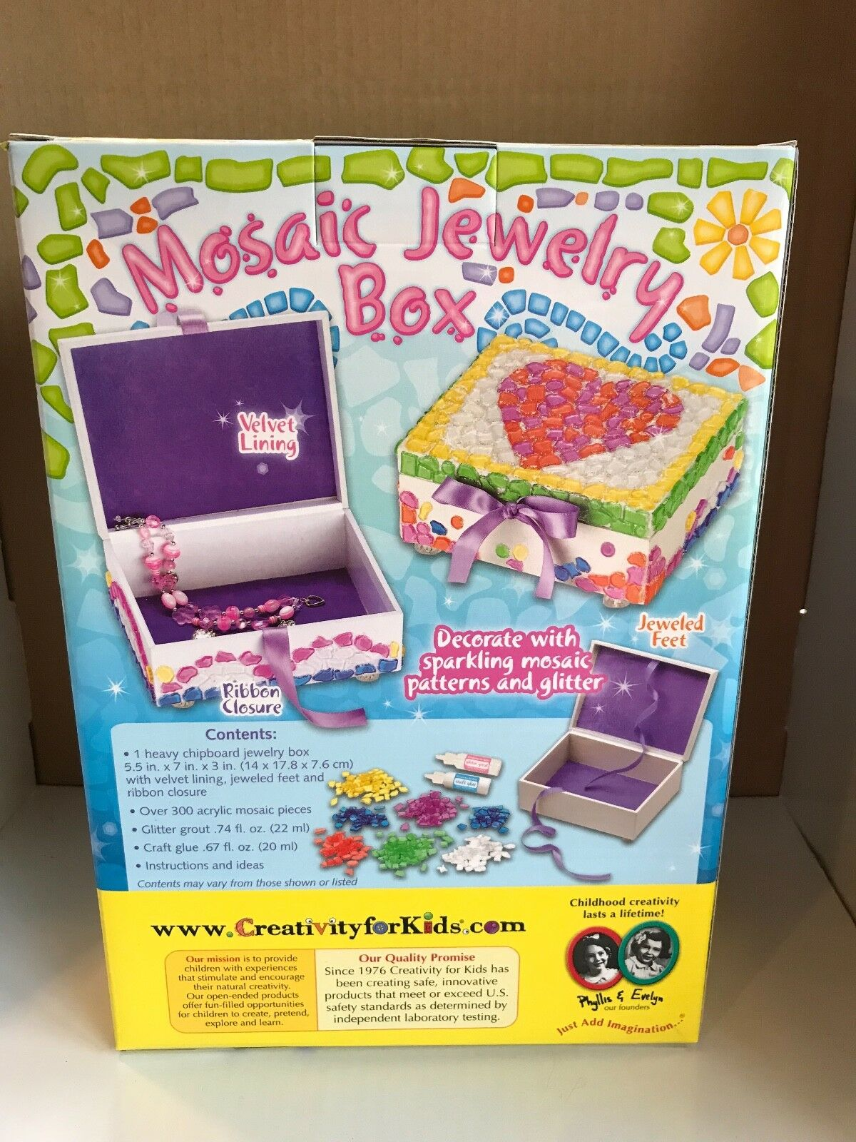 Creativity For Kids Mosaic Jewellery Box Included For Sale Online