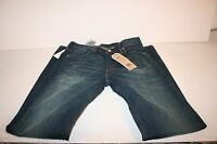 Levis 513 Slim Straight Fit Dark Wash Distressed Pants Jeans Men's 30 X 32