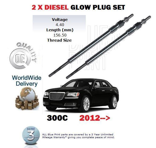 Für Chrysler 300c 3.0dt 2012  Neu 2x Diesel Glühkerze Satz