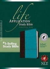 Life Application Study Bible NLT, Personal Size Tutone (2014, Imitation Leather)