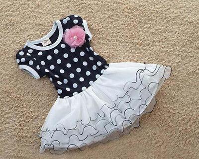 Girls Summer Dress Kids Flower Multi Coloured Polka Dots Spring Fashion Dress
