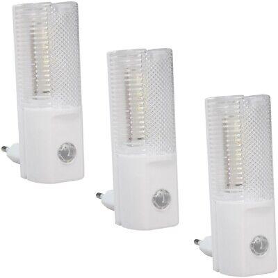 3x Led-nachtlicht Ln-04 M. Dämmerungssensor Mit 4 Weißen Leds Für Steckdose 230v Meer Comfort Voor De Mensen In Hun Dagelijks Leven