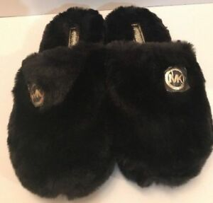 054ee465eb1b Michael Kors Jet Set Women s Faux Fur Slippers NEW w o Box Slip On ...
