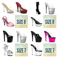 Wholesale Lot 18 Pairs size 7 8 PLEASER Stripper Exotic Dancer Shoes Boots Heels